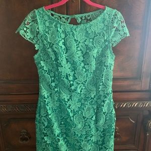 Vince Camuto Green Lace Dress